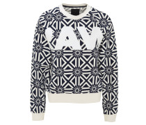 Sweatshirt, geometrisches Muster, Logo-Print