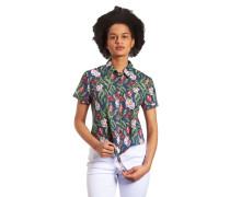 Blusenshirt, floral, Knoten
