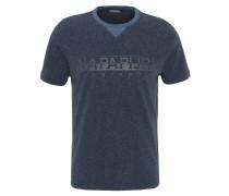 T-Shirt, meliertes Design, Rundhalsausschnitt