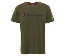 T-Shirt, Comfort Fit, Marken-Print, reine Baumwolle