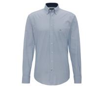 Freizeithemd, Casual-Fit, Baumwolle, Button-Down-Kragen, Minimal-Print