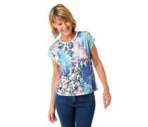 T-Shirt, Rundhalsausschnitt, florales Muster