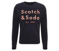 Sweatshirt, auffällige Stickerei, Rundhalsausschnitt