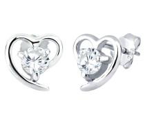 Ohrringe Herz Zirkonia Liebe 925 Silber Geschenkidee