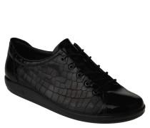 Sneaker, Lack, Reptil-Optik, herausnehmbare Sohle