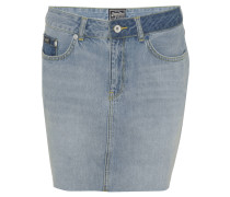 Jeansrock, Used-Look, offener Saum