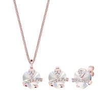 Schmuckset Herz Glamourös Swarovski® Kristalle 925 Silber