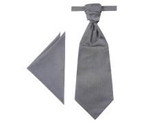 Krawatte & Einstecktuch, 2-tlg. Set, Struktur-Muster