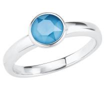 Damen-Ring blau rhodiniert, Sterling  925 2020926