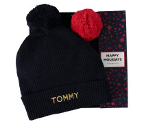 Mütze, Bommel abnehmbar, Stickerei, Geschenkbox