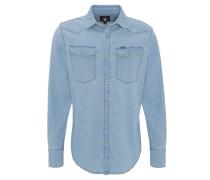 Freizeithemd, Baumwolle, Kent-Kragen, Jeans-Optik