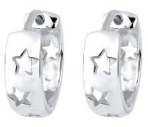 Ohrringe Creolen Sterne Astro Trend 925