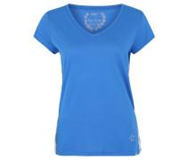 """T-Shirt """"Fresh"""", Glitzer-Borte, Strass-Stern, V-Ausschnitt"""