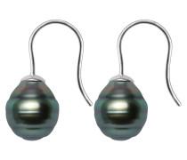 Tahiti-Zuchtperlen-Ohrhänger, Sterling  925