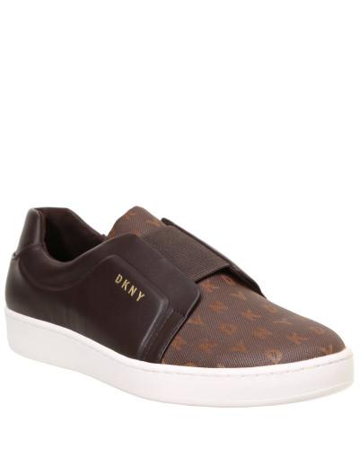"""Sneaker """"Bobbi"""", Leder-Optik, Logo-Druck"""