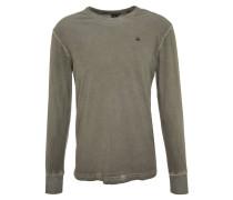 Langarmshirt, Baumwolle, Logo-Emblem, Oilwash