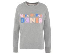 Sweatshirt, Print, verlängerte Rückenpartie, Baumwolle