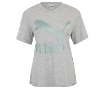 T-Shirt, Logo-Print, leicht transparent