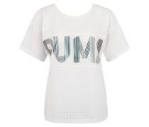T-Shirt, schnelltrocknend, transparent, Logo-Print