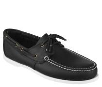 Bootsschuhe, Kontrastnähte, Zierschnürung, Leder