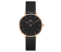 Classic Petite Damenuhr Ashfield 32mm RG Black DW00100201