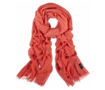 Schal, leicht transparent, ausgefranster Saum