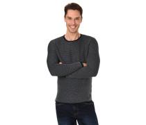 Pullover, Strick, Baumwolle, Struktur-Muster, Rundhalsausschnitt