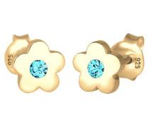 Ohrringe Kinder Blume Floral Swarovski® Kristall 925 Silber