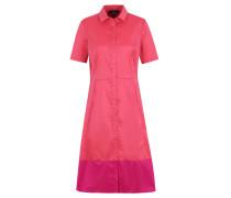 Blusenkleid, Kurzarm, Knopfleiste, Kontrast-Streifen