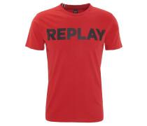 T-Shirt, Marken-Print, Rundhalsausschnitt