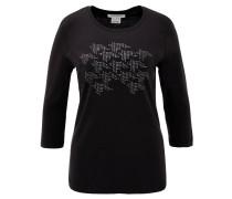 Shirt, 3/4-Arm, Strass, Rundhalsausschnitt, Baumwolle