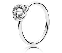 Ring Luminous glow Silber Zirkonia Kristallperle  191040WCP