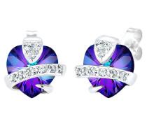Ohrringe Herz Liebe Swarovski® Kristalle Cute 925 Silber