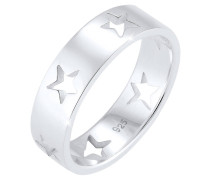 Ring Sterne Astro Cut Out Bandring 925 Sterling