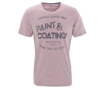 T-Shirt, Front-Print, meliert,
