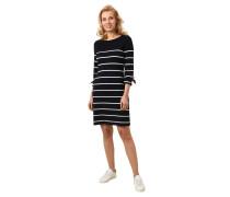Kleid, 3/4-Arm, Schleifen, Streifen-Muster