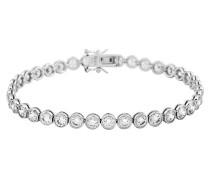 Tennis-Armband  mit weißen -Zirkonia in Zargen-Fassung 6402021582