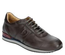 "Sneaker ""MAX 5E"", gebürstetes Leder, Schnürung"