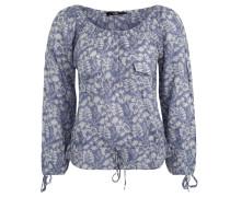 Blusenshirt, U-Boot-Ausschnitt, florales Muster