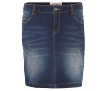 Jeansrock, Washed-Details, Taschen, Ziernähte