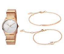 """Set Damenuhr und 2 Armbänder """"Blithe"""" ES1L092M0065"""