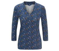 Shirt, 3/4-Arm, V-Ausschnitt, Stretch-Anteil