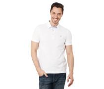 Poloshirt, Kurzarm, Logo-Stickerei, Baumwolle