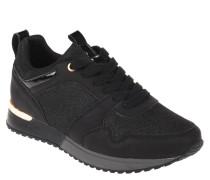 Sneaker, Glitzer, Schnürung