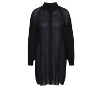 Kleid, Hemd-Stil, Schulterbänder, mit Wolle