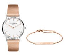 Set Damenuhr und Armband LS-0034-LQB