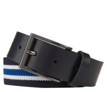 Gürtel, Streifen, Dornschließe, Leder-Applikation
