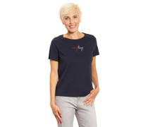 T-Shirt, Schriftzug, unifarben
