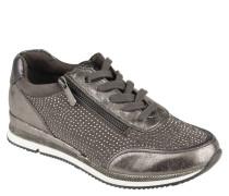 Sneaker, Strass, Reißverschluss, strukturierte Sohle