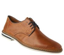 Schnürschuhe, Leder, Derby-Stil, flacher Absatz